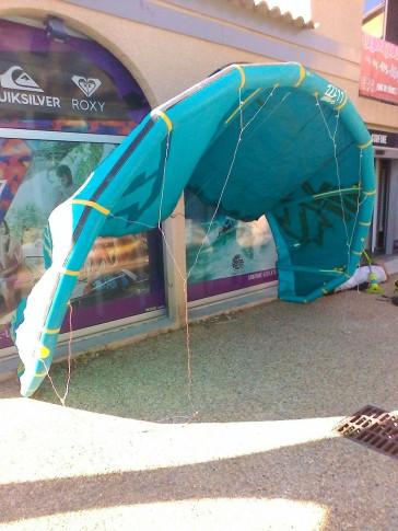 Aile de kite d'occasion North Kiteboarding EVO 11 m² 2014 nue