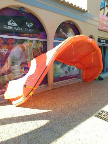 Aile de kite d'occasion North Kiteboarding REBEL 9 m² 2014 nue