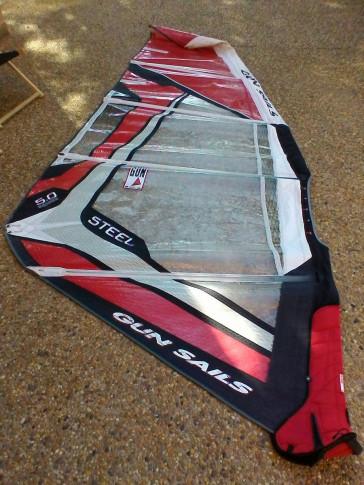 Voile de windsurf Gun Sails STEEL 5.0 m² 2009 d'occasion