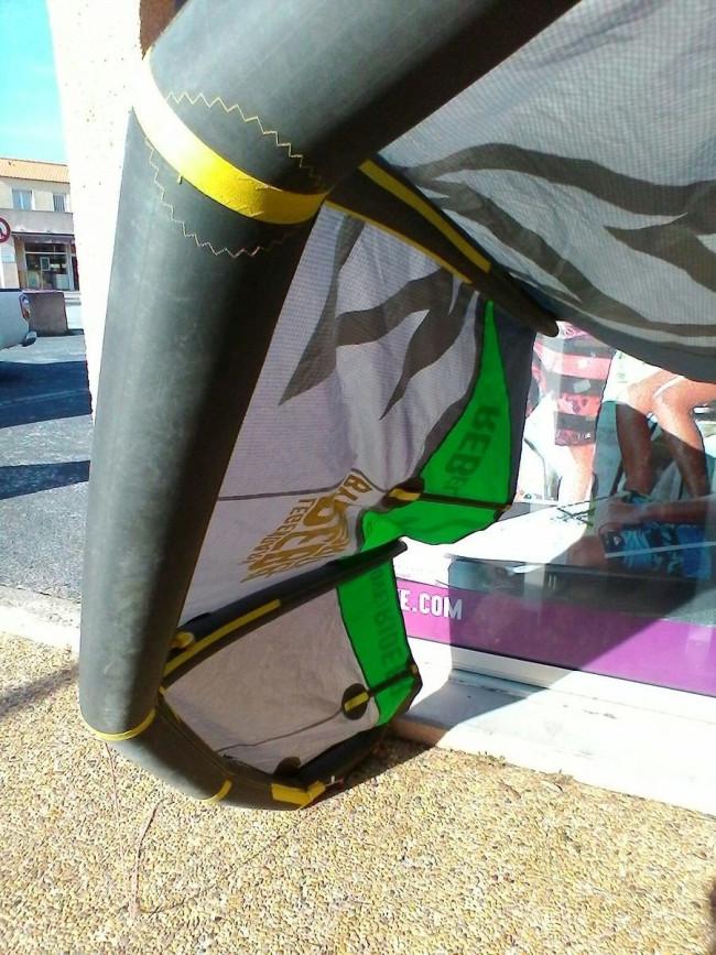 aile de kite d 39 occasion north kiteboarding rebel 7 m 2013 nue. Black Bedroom Furniture Sets. Home Design Ideas