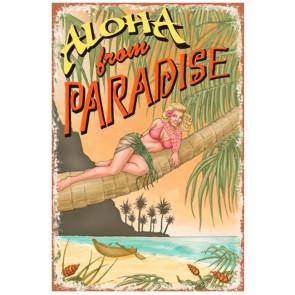 Plaque Déco Surf Pistols Aloha Paradise