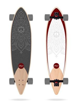 "Skateboard Long Island Dharma 38"" Pintail 2021"