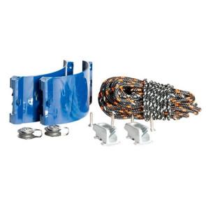 Kit d'étarquage Clam Kit Pro bleu ø 32-35mm (coinceurs alu + poulies + cordage)