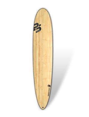 "Planche de Surf Perfect Stuff Epoxy Bambou Longboard 9'1"""