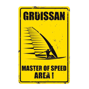 Plaque Déco Surf Pistols Gruissan Master Of Speed