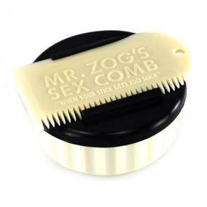Sex Wax Container & Comb - Blanc