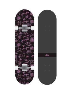 Skateboard Quiksilver Snake 2021 - Noir