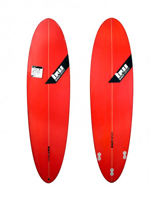 Planche de Surf Blackwings Color Tint Red Wave Rocket 6'8""