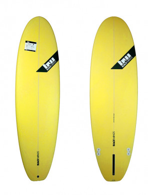 Planche de Surf Blackwings Color Tint Yellow Evo Fat Wombat 6'4""