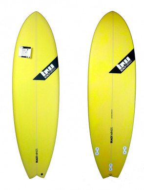 Planche de Surf Blackwings Color Tint Yellow Fish Fire 6'