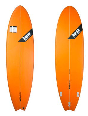 Planche de Surf Blackwings Color Tint Orange Fish Piranha 6'4""