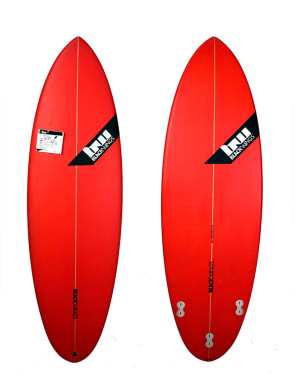 Planche de Surf Blackwings Color Tint Red The Dive 5'8""