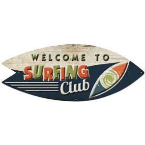 Plaque Déco en Métal Surfpistols Surfing Club