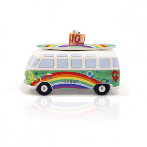Tirelire VW T1 Bus avec Surfboard - Peace