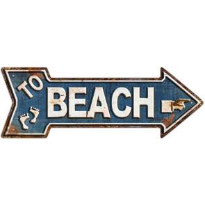 Plaque Déco en Métal Surfpistols To Beach
