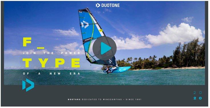 Voir la vidéo de la F_Type 2020 de chez Duotone