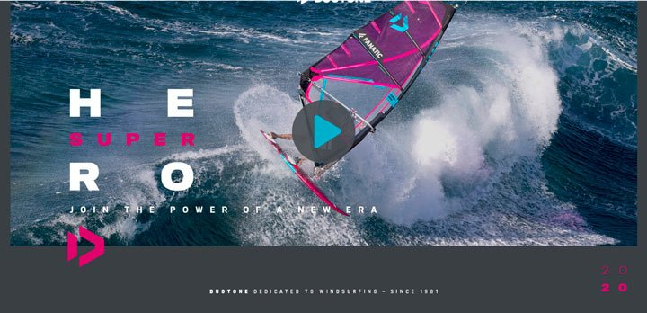 Voir la vidéo de la Super Hero 2020 de chez Duotone